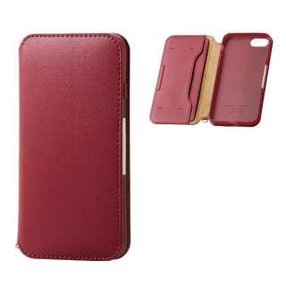 iPhone8/7 (4.7) ソフトレザーケース 磁石付 レッド HK-A17MPLFY2RD
