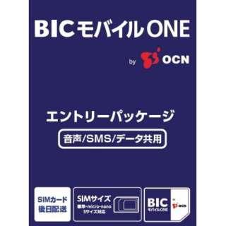 BICモバイルONE 音声・SMS・データ共通 [SMS対応 /マルチSIM]