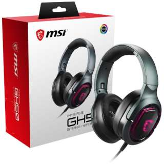 ImmerseGH50GAMING ゲーミングヘッドセット Immerse GH50 GAMING Headset ブラック [USB /両耳 /ヘッドバンドタイプ]