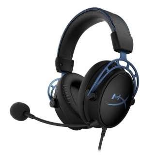 HX-HSCAS-BL/WW ゲーミングヘッドセット HyperX Cloud Alpha S ブルー [φ3.5mmミニプラグ /両耳 /ヘッドバンドタイプ]