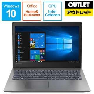 【アウトレット品】 15.6型ノートPC [Office・Win10 Home・Celeron・HDD 1TB・メモリ 4GB] Ideapad (アイデアパッド )330  81D1008HJP オニキスブラック 【外装不良品】