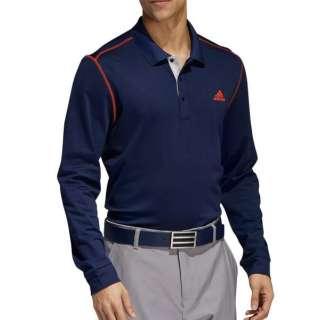 メンズ ゴルフウェア グラデーションボーダー 長袖ポロ(Mサイズ/カレッジエイトネイビー) FWJ13
