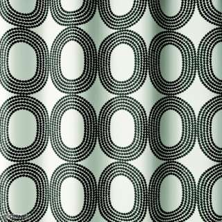 ドレープカーテン ドットリング(100×135cm/ブラック)