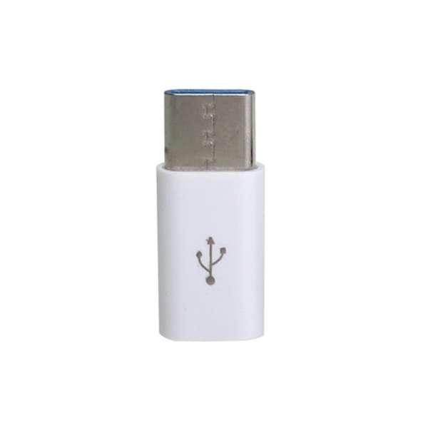 [USB-C オス→メス micro USB]2.0変換アダプタ 充電・転送 CAD-P1W ホワイト