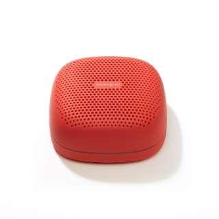 SP-S10BTR ブルートゥーススピーカー SOUND BUMP レッド [Bluetooth対応 /防滴]