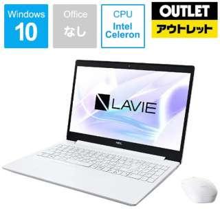 【アウトレット品】 15.6型ノートPC [Win10 Pro・Celeron・HDD 500GB・メモリ 4GB] PC-GN11FJRGDCHDD2TDA カームホワイト 【数量限定品】