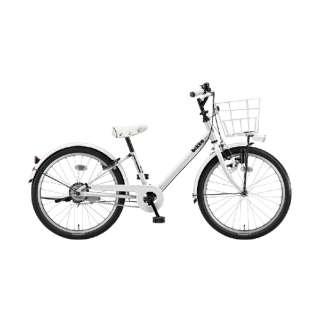 22型 子供用自転車 ビッケ j(E.XBKホワイト/シングルシフト)BKJ22【2020年モデル】 【組立商品につき返品不可】