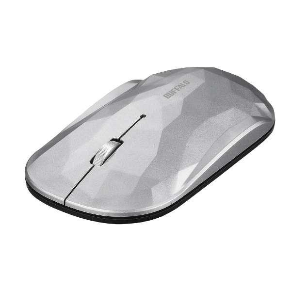 BSMBW338GSV マウス BSMBW338シリーズ シルバー [BlueLED /3ボタン /USB /無線(ワイヤレス)]