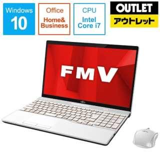 【アウトレット品】 15.6型ノートPC [Office付・Core i7・HDD 1TB・メモリ 8GB] LIFEBOOK AH53/D1  FMVA53D1W プレミアムホワイト 【生産完了品】