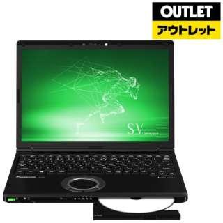 【アウトレット品】 12.1型ノートPC [Office・Win10 Pro・Core i7・SSD 512GB・メモリ 8GB・LTE対応] Let's note(レッツノート)SV8シリーズ  CF-SV8LFNQR ブラック 【外装不良品】