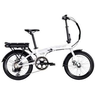 【eバイク】20型 折りたたみ電動アシスト自転車 ZERO N2.0(ホワイト/外装7段変速) 【組立商品につき返品不可】