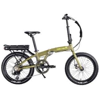 【eバイク】20型 折りたたみ電動アシスト自転車 ZERO N2.0FAT (ミリタリーグリーン/外装7段変速) 【組立商品につき返品不可】