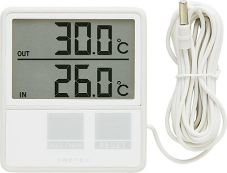 ドリテック () 室内 室外温度計 O-285IV 1個 62-8553-21