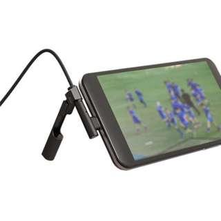 充電中にスタンドになるケーブル STANDING USB2.0 TypeCケーブル 6.4インチまでスタンド機能対応 SD-UACS12 ブラック
