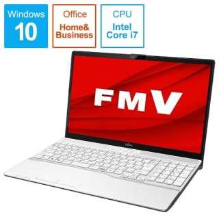 FMVA50D3WP ノートパソコン FMV LIFEBOOK AH50/D3 プレミアムホワイト [15.6型 /intel Core i7 /SSD:256GB /メモリ:4GB /2019年10月モデル]