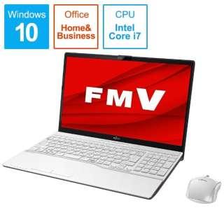 FMVA53D3W ノートパソコン FMV LIFEBOOK AH53/D3 プレミアムホワイト [15.6型 /intel Core i7 /SSD:512GB /メモリ:8GB /2019年10月モデル]