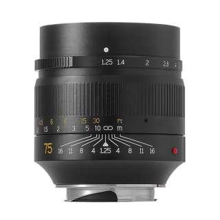 カメラレンズ 7Artisans 75mm F1.25  単焦点レンズ ライカMマウント [ライカM /単焦点レンズ]