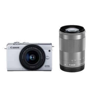 EOS M200 ミラーレス一眼カメラ ダブルズームキット ホワイト [ズームレンズ+ズームレンズ]