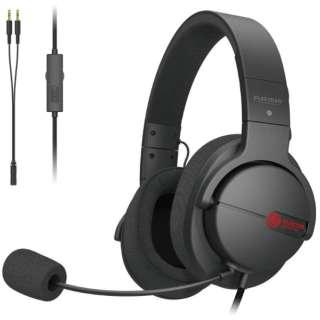 HS-ARMA100BK ゲーミングヘッドセット ARMA FPS ブラック [φ3.5mmミニプラグ /両耳 /ヘッドバンドタイプ]