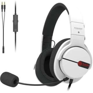 HS-ARMA100WH ゲーミングヘッドセット ARMA FPS ホワイト [φ3.5mmミニプラグ /両耳 /ヘッドバンドタイプ]