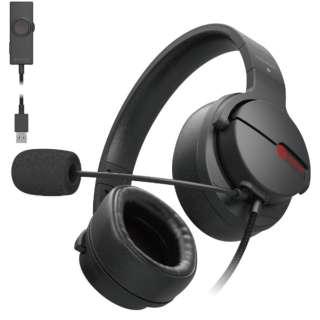 HS-ARMA200VBK ゲーミングヘッドセット ブラック [φ3.5mmミニプラグ+USB /両耳 /ヘッドバンドタイプ]