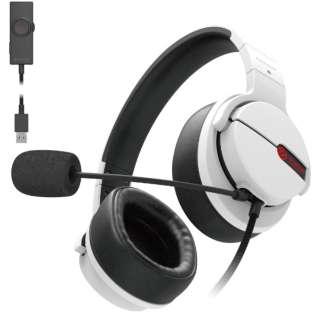 HS-ARMA200VWH ゲーミングヘッドセット ARMA FPS ホワイト [φ3.5mmミニプラグ+USB /両耳 /ヘッドバンドタイプ]