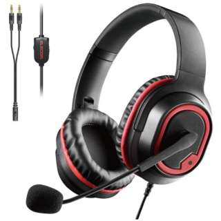 HS-G30BK ゲーミングヘッドセット ブラック [φ3.5mmミニプラグ /両耳 /ヘッドバンドタイプ]