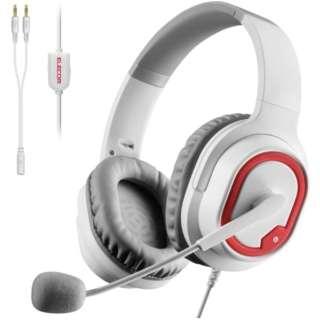 HS-G30WH ゲーミングヘッドセット ホワイト [φ3.5mmミニプラグ /両耳 /ヘッドバンドタイプ]