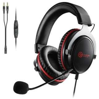 HS-G40BK ゲーミングヘッドセット ブラック [φ3.5mmミニプラグ /両耳 /ヘッドバンドタイプ]