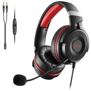 HS-G60BK ゲーミングヘッドセット ブラック [φ3.5mmミニプラグ /両耳 /ヘッドバンドタイプ]
