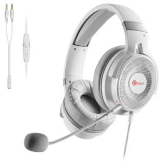 HS-G60WH ゲーミングヘッドセット ホワイト [φ3.5mmミニプラグ /両耳 /ヘッドバンドタイプ]