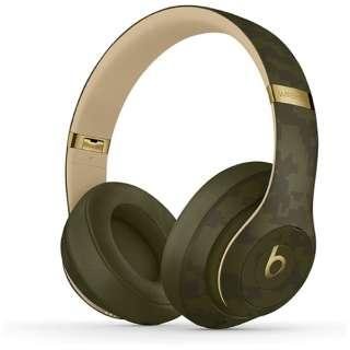 ブルートゥースヘッドホン Beats Studio3 Wireless - Beats Camo Collection - フォレストグリーン MWUH2PA/A [リモコン・マイク対応 /Bluetooth /ノイズキャンセリング対応]