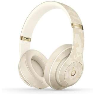 ブルートゥースヘッドホン Beats Studio3 Wireless - Beats Camo Collection - サンドデューン MWUJ2PA/A [リモコン・マイク対応 /Bluetooth /ノイズキャンセリング対応]