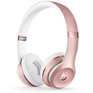 ブルートゥースヘッドホン Beats Solo3 Wireless ローズゴールド MX442PA/A [リモコン・マイク対応 /Bluetooth]