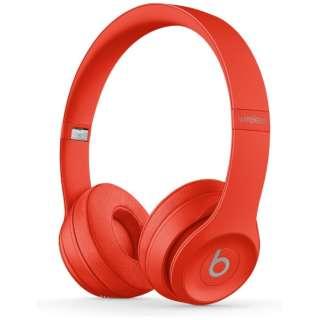 ブルートゥースヘッドホン Beats Solo3 Wireless - Beats Club Collection - クラブレッド MX472PA/A [リモコン・マイク対応 /Bluetooth]