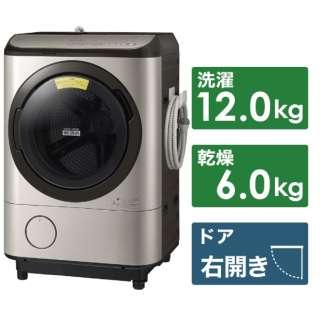 BD-NX120ER-N ドラム式洗濯乾燥機 ビックドラム ステンレスシャンパン [洗濯12.0kg /乾燥6.0kg /ヒーター乾燥(水冷・除湿タイプ) /右開き]