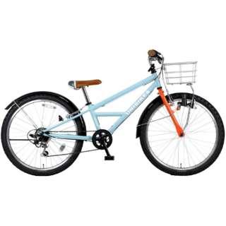 24型 自転車 ユニバイクス 246-A(ライトブルー/外装6段変速) MK-19-023【2020年モデル】 【組立商品につき返品不可】