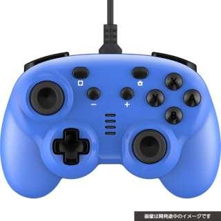CYBER・ジャイロコントローラー ミニ 有線タイプ(SWITCH 用) ブルー CY-NSGYCMW-BL 【Switch】