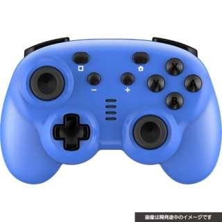 CYBER・ジャイロコントローラー ミニ 無線タイプ(SWITCH 用) ブルー CY-NSGYCMB-BL 【Switch】