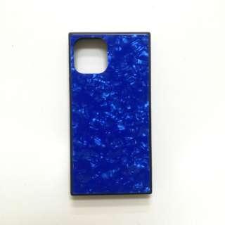 iPhone11 /XR SQガラスハイブリッドケース(シェル柄) AIC-SHE06-NEW61 ブルー
