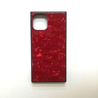 iPhone11 /XR SQガラスハイブリッドケース(シェル柄) AIC-SHE07-NEW61 レッド