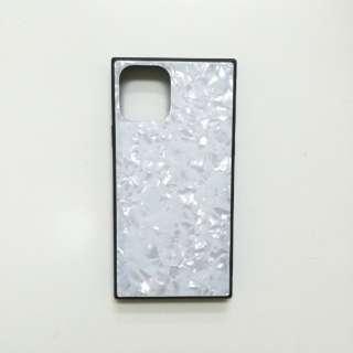 iPhone11 /XR SQガラスハイブリッドケース(シェル柄) AIC-SHE08-NEW61 ホワイト