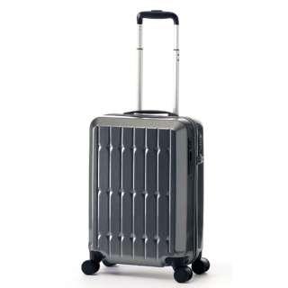 スーツケース ハードキャリー 36L RUNWAY ガンメタブラッシュ BC2001S18 [TSAロック搭載]