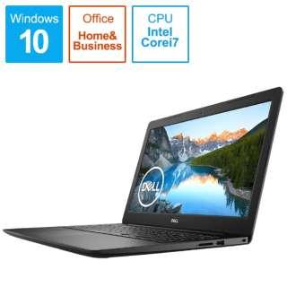NI375L-9WHBB ノートパソコン Inspiron 15 3593 ブラック [15.6型 /intel Core i7 /SSD:512GB /メモリ:8GB /2019年秋冬モデル]