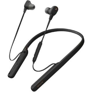 ブルートゥースイヤホン ブラック WI-1000XM2BM [リモコン・マイク対応 /ワイヤレス(ネックバンド) /Bluetooth /ハイレゾ対応 /ノイズキャンセリング対応]