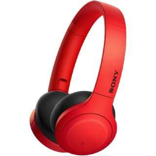 ブルートゥースヘッドホン レッド WH-H810 RM [リモコン・マイク対応 /Bluetooth /ハイレゾ対応]