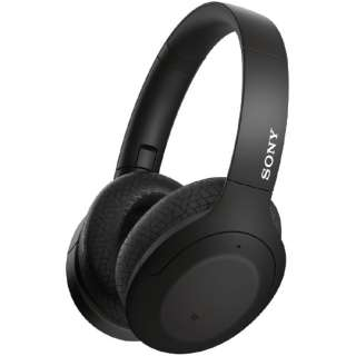ブルートゥースヘッドホン ブラック WH-H910N BM [リモコン・マイク対応 /Bluetooth /ハイレゾ対応 /ノイズキャンセリング対応]