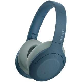ブルートゥースヘッドホン ブルー WH-H910N LM [リモコン・マイク対応 /Bluetooth /ハイレゾ対応 /ノイズキャンセリング対応]