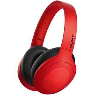 ブルートゥースヘッドホン レッド WH-H910N RM [リモコン・マイク対応 /Bluetooth /ハイレゾ対応 /ノイズキャンセリング対応]