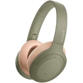 ブルートゥースヘッドホン アッシュグリーン WH-H910N GM [リモコン・マイク対応 /Bluetooth /ハイレゾ対応 /ノイズキャンセリング対応]